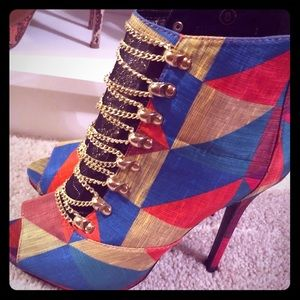 Beautiful multi colored bootie!